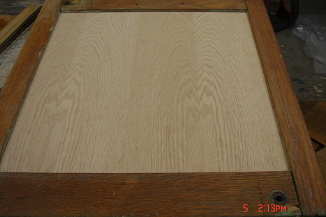 Hoosier Side Panel During Restoration