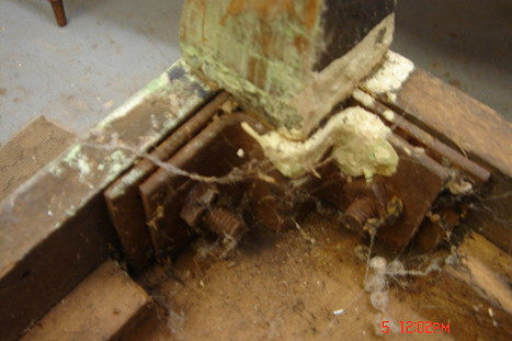 Hoosier Underside Before Restoration